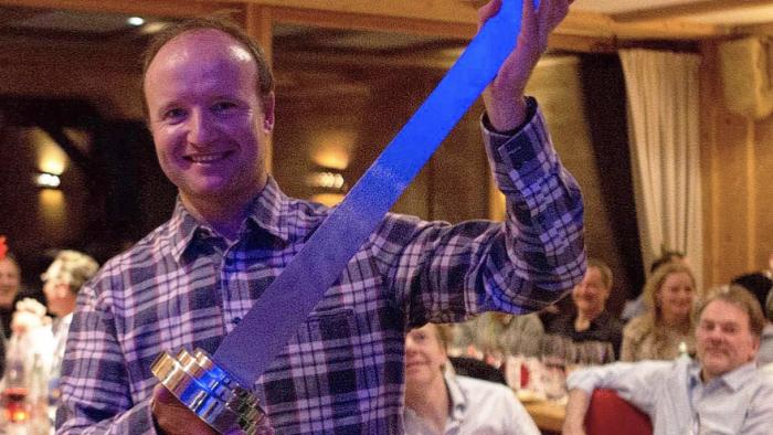 Ben Young, MD of SYM Superyacht Management wins the Heesen Ski Cup 2020