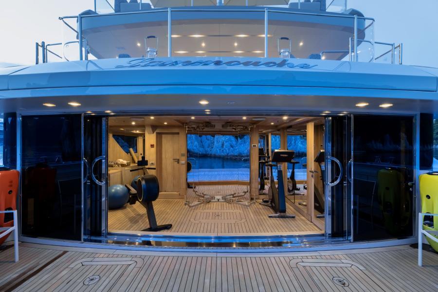 Onboard Gymnasium - LAMMOUCHE PHOTOSHOOT - SYM Superyacht Management, Port Camille Rayon, Golfe Juan