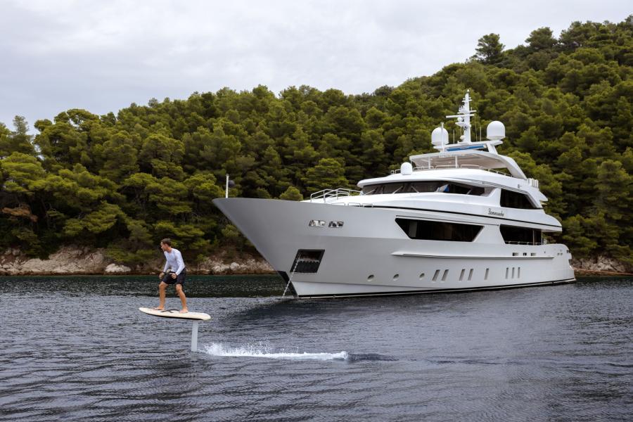 Hydrofoil surf board - LAMMOUCHE PHOTOSHOOT - SYM Superyacht Management, Port Camille Rayon, Golfe Juan