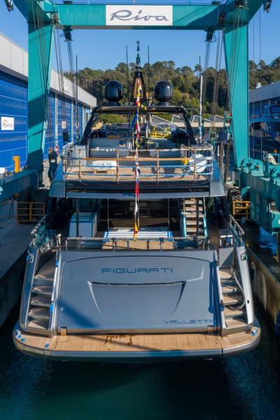 Riva yachts figurati launch January 2021 La Spezia Italy